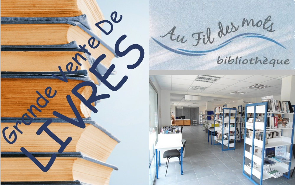 Bibliothèque : Grande Vente de Livres le 23 mars