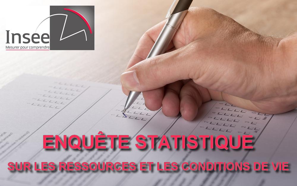 INSEE : Enquête Statistique sur les Ressources et les Conditions de Vie